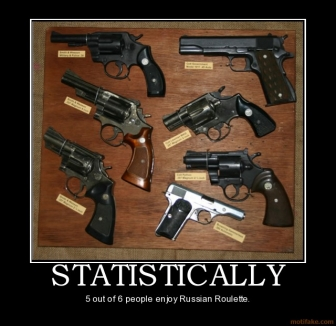 statistically-russian-roulette-demotivational-poster-1283042300